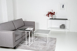 FOREST White Sofa side table