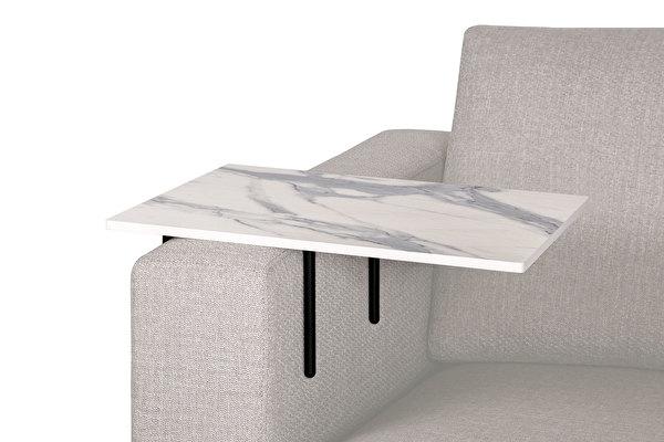 HELPER stolik boczny do sofy duży Wyglad-bialego-marmuru-blat