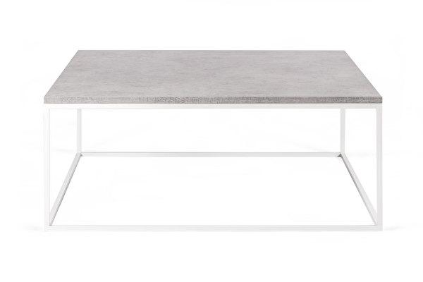 FOREST Biały Kwadratowy Stolik Kawowy 100 Concrete HPL