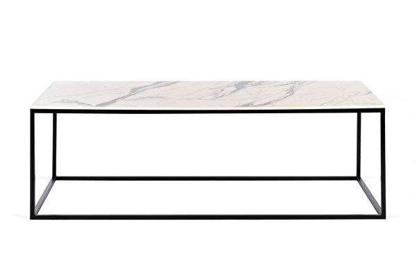 FOREST Długi Stolik Kawowy Wyglad-bialego-marmuru-blat